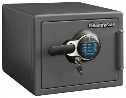 Sentry Safe SFW082GTC 1 Hour Fire and Water Electronic Safe - Door closed