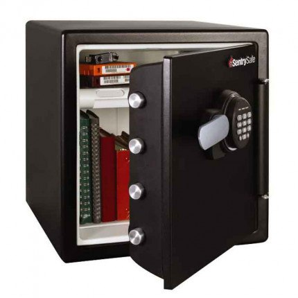 Sentry Safe SFW123FTC 1 Hour Fire and Water Electronic Safe - Door Ajar