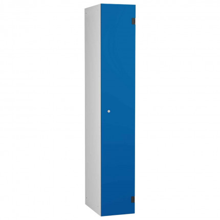 Probe ShockBox Overlay Laminate Door Locker Single Compartment in Electric Blue