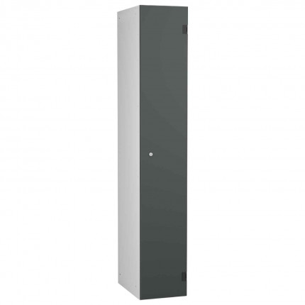 Probe ShockBox Overlay Laminate Door Locker Single Compartment in Dark Grey