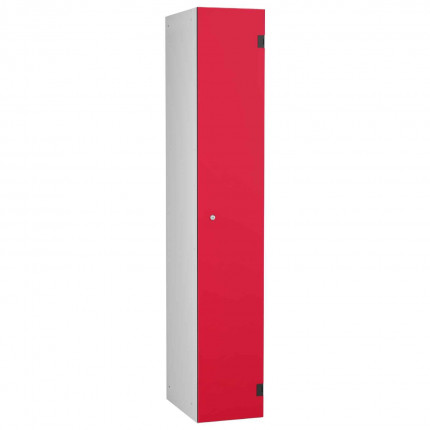 Probe ShockBox Overlay Laminate Door Locker Single Compartment in Red Dynasty
