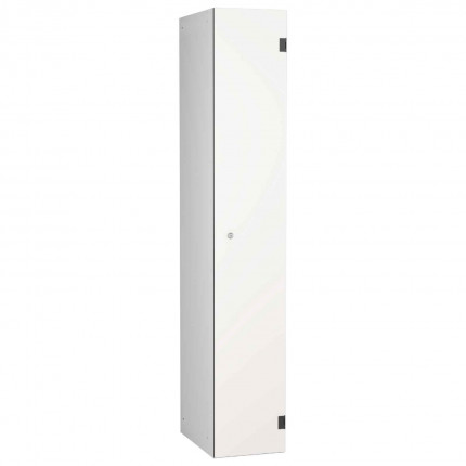 Probe ShockBox Overlay Laminate Door Locker Single Compartment in Pearly White