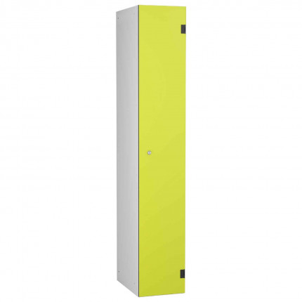 Probe ShockBox Overlay Laminate Door Locker Single Compartment in Lime Yellow
