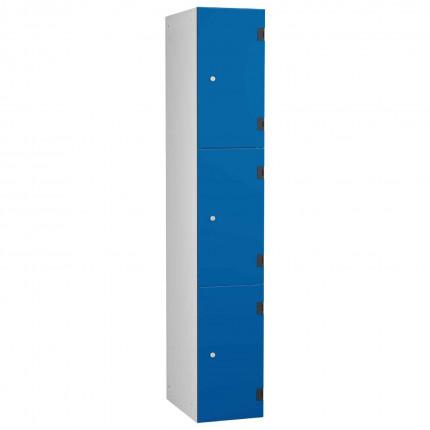 Probe ShockBox Overlay Laminate Door Locker Three Compartments in Electric Blue