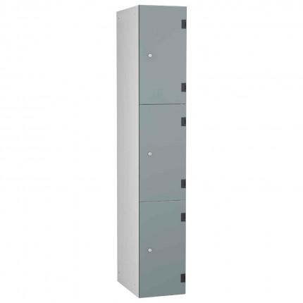 Probe ShockBox Overlay Laminate Door Locker Three Compartments in Dust