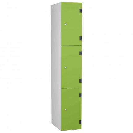 Probe ShockBox Overlay Laminate Door Locker Three Compartments in Lime