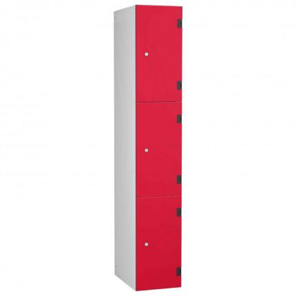 Probe ShockBox Overlay Laminate Door Locker Three Compartments in Red Dynasty