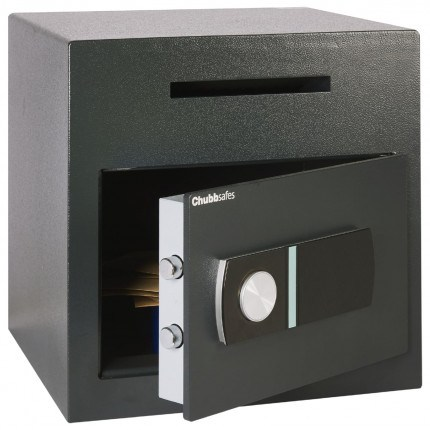 Sigma Safe Door slightly open with items inside total internal height 369 millimeters