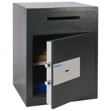 Sigma Safe Door slightly open with items inside total internal height 469 millimeters