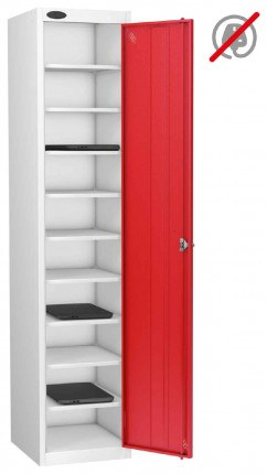 Probe Laptop Storage Locker 10 Compartments 380x460 - Red