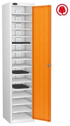 Laptop USB Charging Locker 15 Capacity - Probe Lapbox 15CH - orange