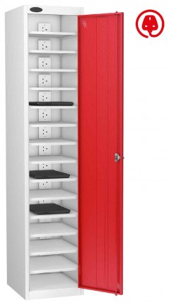 Laptop Charging Locker 15 Capacity - Probe Lapbox 15CH - red