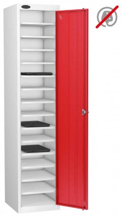 Probe Lapbox 15ST Laptop Storage Locker 15 Compartments - red