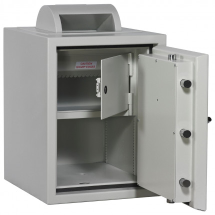 Rotary Deposit Safe £10000 - Dudley Eurograde 1 Size 2 - optional coffer