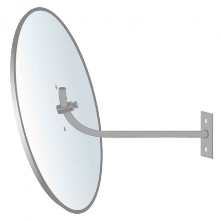 Securikey Econovex Interior Convex Mirror 500mm wall bracket