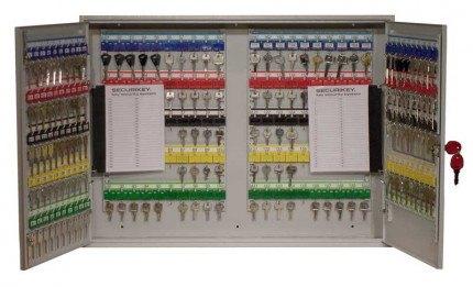 Securikey Key Vault KVD200 Deep Cabinet Euro Lock 200 Keys - doors open