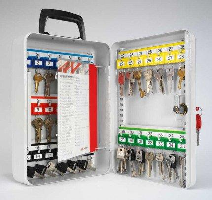Portable Key Cabinet 35 Keys Key Lock - Securikey KH035 - Door open