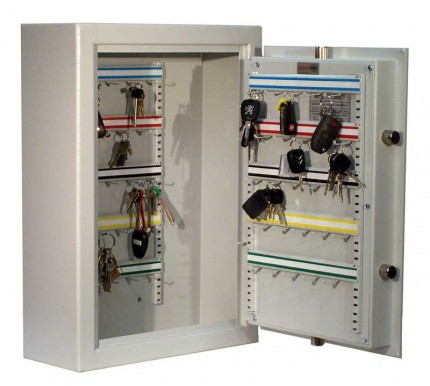 High Security Key Lock 50 Key Bunches Storage Safe - Securikey KSD50K