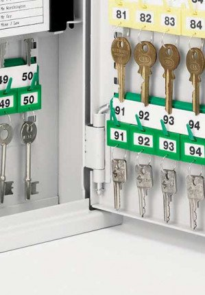 Securikey Key Vault KVP028 Cabinet Euro Lock 28 Key Bunches - internal key hooks