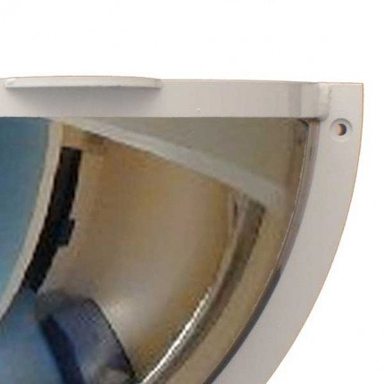 Securikey Institutional Mirror Stainless Anti-Ligature 500x250mm 1/2 Dome close up