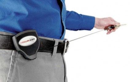 KEY-BAK 120cm Kevlar Cord Heavy Duty Clip On Belt Key Reel