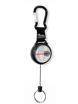Keybak Karabiner Style Key Reel 120cm Kevlar Cord extended