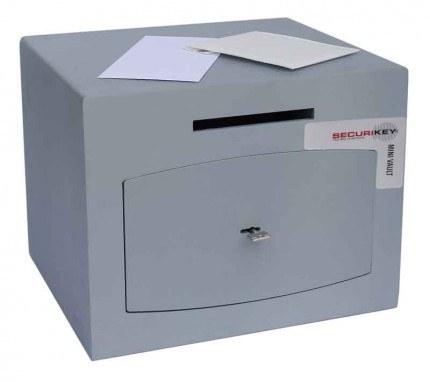 Securikey Mini Vault Silver 1 Deposit Safe Key Lock