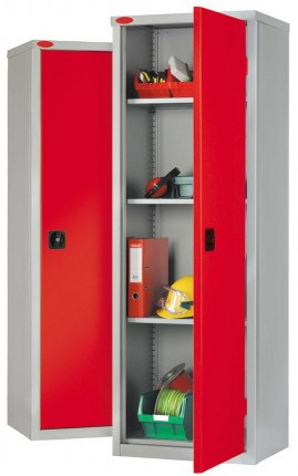 Probe SLC702418 Industrial Slim Steel Cabinet 610x460 - Red doors