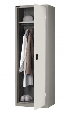 Steel Wardrobe 1 Door for Clothing - Probe SLW702418 - white
