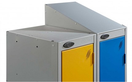 Probe sloping top option for anti-theft clear door lockers