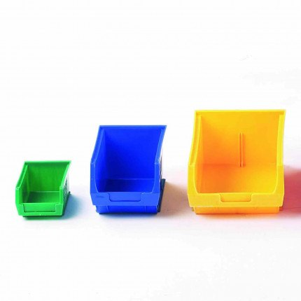 Smaller Plastic Bins for tools and spares for fitting on Bedford Louvre Cabinets