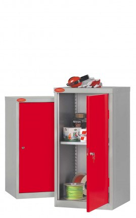 Probe Industrial Small Tool Cabinet with Dished Top & Rubber Mat - Red