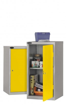 Probe Industrial Small Tool Cabinet with Dished Top & Rubber Mat - Yellow