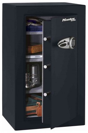 Master Lock T0-331 Digital Electronic Security Safe - door ajar