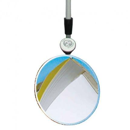 Vialux 321Portable Security Inspection Mirror 300mm Diameter + LED Torch close up