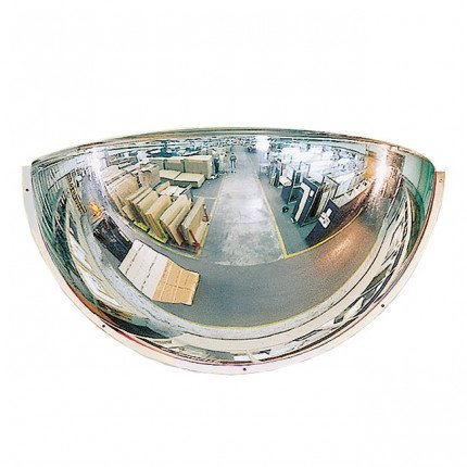 Plexiglass 1/2 Dome Convex Wall Mirror - Vialux 660mm