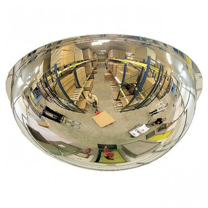 Wide Angle Polycarbonate Ceiling Dome Convex Mirror - Vialux 3695PC 100cm