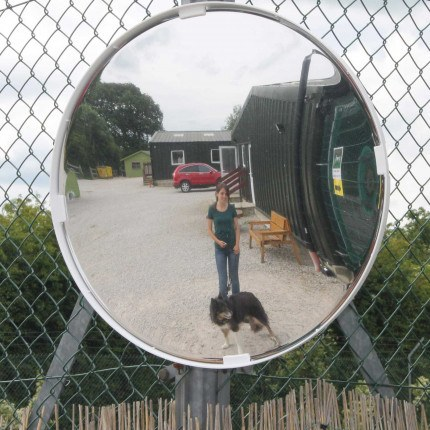 Vialux Multi-Use Convex Mirror as used by Ashbourne Animal Welfare Centre