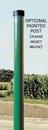 Green painted post for a Blindspot Convex Unbreakable Mirror 70cm - Vialux 517