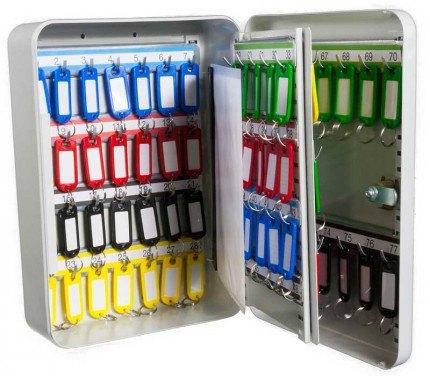 Safe Saver Key Systems Cabinet 77 hooks Combination Lock open