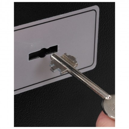 Phoenix SS0721K Compact Home Office Safe - showing key lock