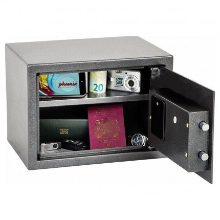Phoenix Vela SS0801E fully open showing content and 1 shelf