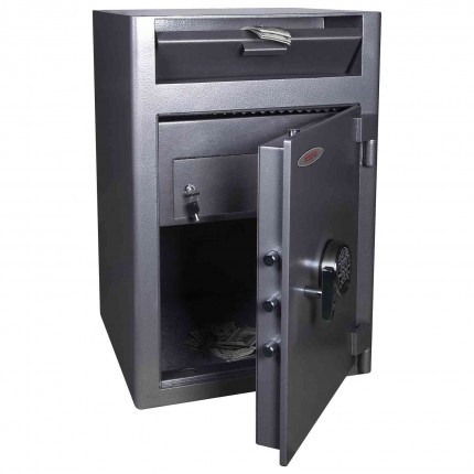 Phoenix SS0998FD  Fingerprint Locking Deposit Safe - doors open
