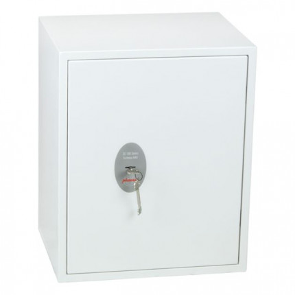 Phoenix Fortress Security Safe SS1183K Door Closed showing Key Lock with Keys in lock