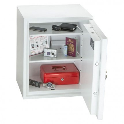 Phoenix Fortress Security Safe SS1183K Door Wide Open showing inside of safe with contents