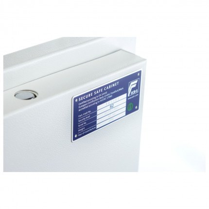 Testing Standard Certification Plate for Phoenix Fortress Security Safe SS1183K