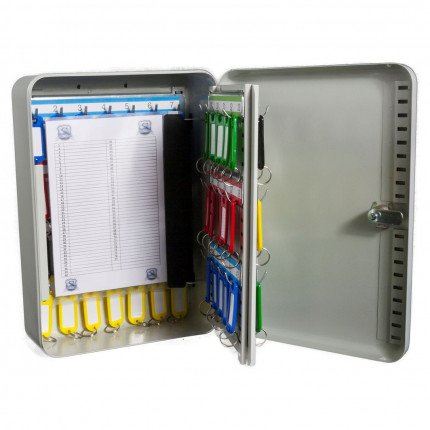 Safe Saver SS58E Key Storage Cabinet Electronic Locking 58 Keys showing key control card