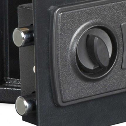 Burton Standard MK2 Electronic Hotel Safe Size 1 bolts close up