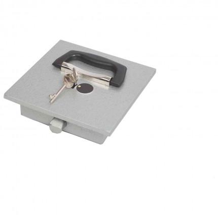 Keysecure Stronghold KSS32D £3000 Key Lock Floor Deposit Safe - Locking Door Close up