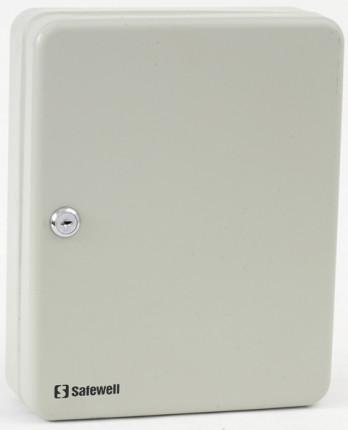 Safesaver SW-30K45 Key Storage Wall Cabinet Key Lock 45 Keys - Door Closed